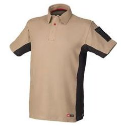 POLO ALGODON STRETCH BEIGE M