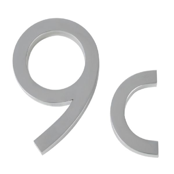 NUMERO 9 ALUMINIO PLATA 10CM